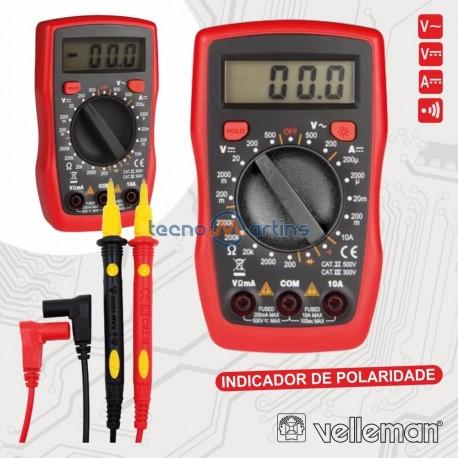 Multimetro Digital 3½ Dígitos CATII500V/CATIII300V - VELLEMAN
