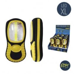 Lanterna LED 3w + 1w (230+70lm) C/ Iman e Gancho - EDM