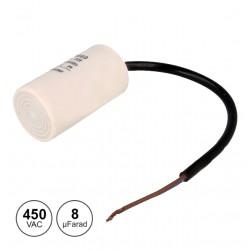 Condensador de Arranque 8uf / 450v C/Fio