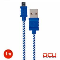 Cabo USB2.0 A Macho / Micro-USB2.0 B Macho Azul/Br Pl 1mt - DCU