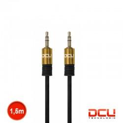 Cabo Jack 3.5mm Stereo Macho/Macho Preto-Dourado 1.5mt - DCU