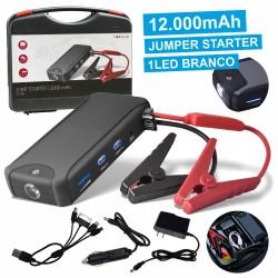 Arrancador de Baterias Auto 400A com USB LED