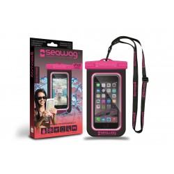 Bolsa Impermeável para Smartphone SEAWAG Preto/Rosa