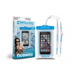 Bolsa impermeável P/ Smartphone SEAWAG Branco/Azul