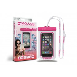 Bolsa Impermiavel P/ SmartPhone SEAWAG Branco/Rosa