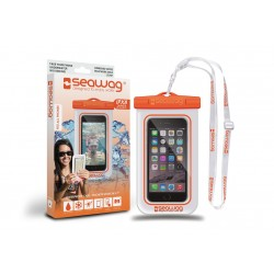 Bolsa Impermiavel P/ SmartPhone SEAWAG Branco/Laranja