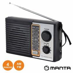 Radio Portatil Fm/Am Classico ac/dc 3v Manta