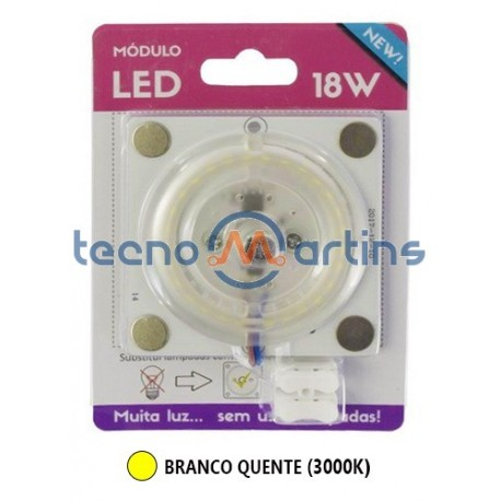 Placa Led smd 18w 230v 3000k 1650lm Mini c/ Pernos Magneticos