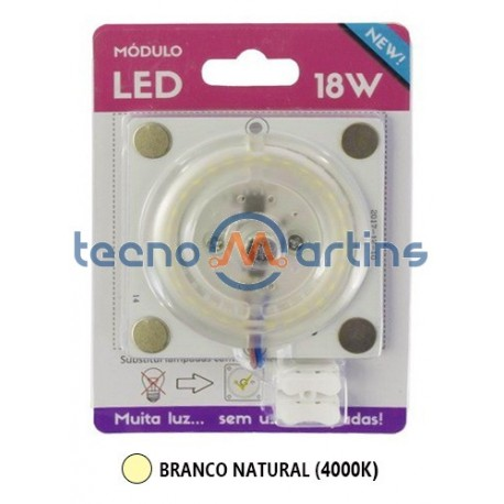 Placa Led smd 18w 230v 4000k 1650lm Mini c/ Pernos Magneticos