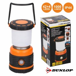 Lanterna p/ Campismo 42+4 LEDs IP44 1000lm - DUNLOP