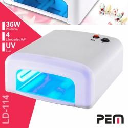 Forno UV p/ Unhas Gel 36W c/ 4 Lâmpadas UV 9W - PEM