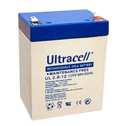 Bateria 12v 2.9a Chumbo Ultracell