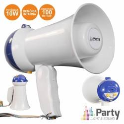 Megafone 10W c/Gravação De Voz Memória Interna - PARTY