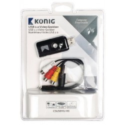 Placa de Captura Video S-Video e Audio / USB 2.0 - KONIG