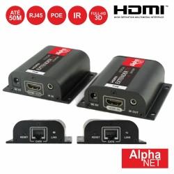 Receptor e Transmissor HDMI via RJ45 CAT6 50m - ALPHANET