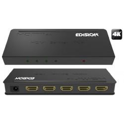 Distribuidor De Sinal HDMI 4K V1.4 (1 Entrada / 4 Saídas) - EDISION