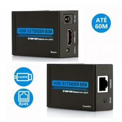 Extensor Sinal HDMI Via UTP Rj45 Até 60mt (Cat 5E/6)