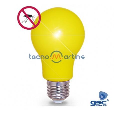 Lampada LED Anti-Mosquitos E27 5w 450lm Amarela - GSC