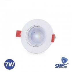 Aro Fixo Orientavel C/ Lâmpada Gu10 7w 6000k Branco Frio - GSC