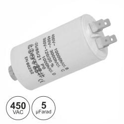 Condensador Arranque 5UF 450V + Terra