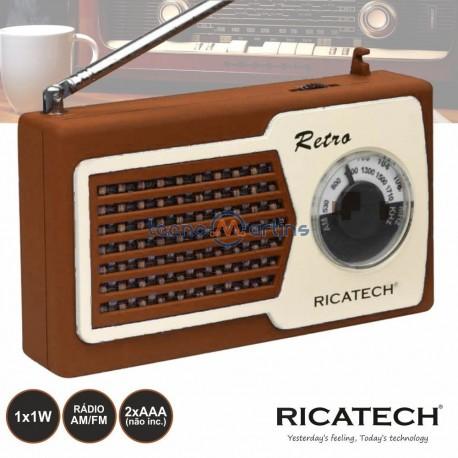 RADIO PORTATIL AM/FM 1W CASTANHO - RICATECH