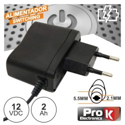 Alimentador Switching 12Vdc 2A - 5.5x2.1mm