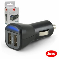 Adaptador Ficha Isqueiro 12V/24V / 2 USB 5V 2.4A - JOIN