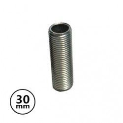 Tubo Roscado 30mm Metalico p/Sup Lampada