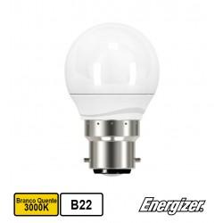 Lâmpada LED Esférica 220V BAIONETA B22 5,9W BRANCO F. 3000K 520Lm - ENERGIZER
