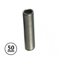 Tubo Roscado 50mm Metálico p/ Suporte Lâmpada