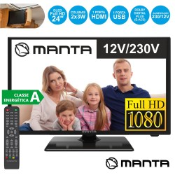 "TV LED 24"" HDMI USB 2 x 6W 12V/220V - MANTA 24LFN37L"