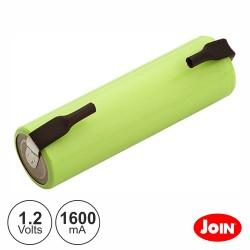 Bateria 1.2v-1600mA AA C/ Patilha Soldar