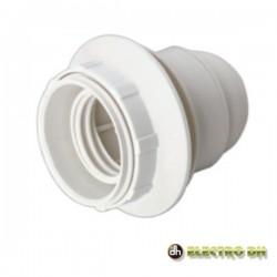 Suporte Lâmpada E27 Rosca P/ Abajur Branco - EDH