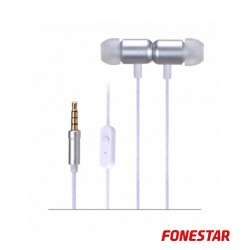 Auscultadores C/ Microfone Cinzento X4-G - FONESTAR