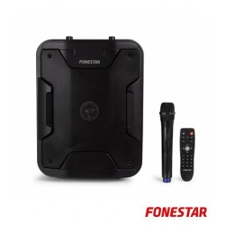 "Coluna PA Portatil 8"" 200W C/ Usb, Mp3, Sd, Bluetooth Microfone S/Fio e Bateria - FONESTAR"