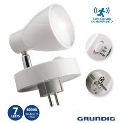 Luz Presença - 7 Leds Brancos C/ Sensor Pir Ajustável - GRUNDIG