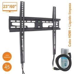 "Suporte Tv Lcd 23""-60"" 400/400 45kg C/ Cabo HDMI + Liquido de Limpeza"