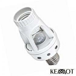 Suporte Lampada E27 M/F C/ Sensor Pir36
