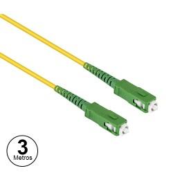 Cabo Fibra Optica 3mt SC-SC Monomodo (9/125µ) ≤0.3dB - Amarelo