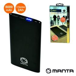 POWERBANK 8000MA c/ Ficha Micro USB Preto MANTA