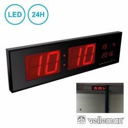 Relogio Parede C/ Visor LED 24h