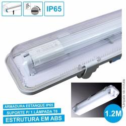 Armadura Estanque 1.2M p/ Lâmpada Led Tubular T8
