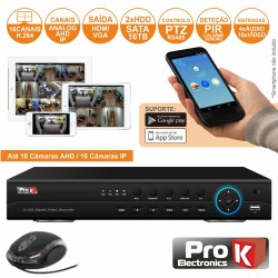 Vídeo-Gravador Digital 16 Canais Ahd H264 Hdmi Ethernet - Prok