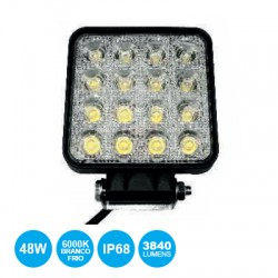 Projector Led 16x3W 9..60V Ip68 6500K 3840lm P/ Auto