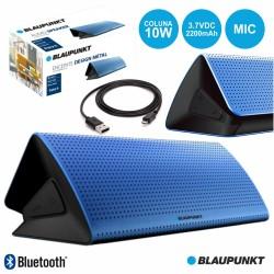 Coluna Bluetooth Portátil 10W BAT MIC Azul - Blaupunkt