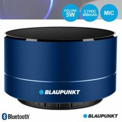 Coluna Bluetooth Portátil 5W SD/BAT/LED Azul - Blaupunkt