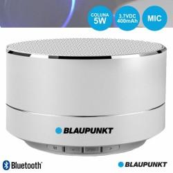 Coluna Bluetooth Portátil 5W SD/BAT/LED Cinza - Blaupunkt