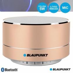 Coluna Bluetooth Portátil 5W SD/BAT/LED Dourado - BLAUPUNKT