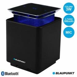 Coluna Bluetooth Portátil LED Azul Touch 3W MIC - Blaupunkt