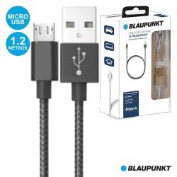 Cabo USB-A 2.0 Macho / Micro USB-B Macho 1.2M Preto - BLAUPUNKT